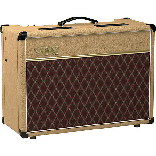 vox ac15 15w 1x12 limited edition tan tube guitar combo amp tan musician 39 s friend. Black Bedroom Furniture Sets. Home Design Ideas