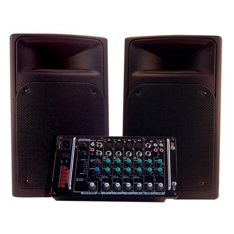 Nady ACCESS PSS-300 Full Range Portable PA with 8-Channel Mixer
