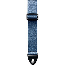 D'Andrea ACE 2-Inch Vintage Vinyl Guitar Strap Moody Blue Glass Glitter