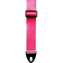 D'Andrea ACE 2-Inch Vintage Vinyl Guitar Strap Pink Glass Glitter