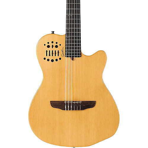 Godin ACS-SA Slim Nylon String Cedar Top Acoustic-Electric Guitar Black Pearl-thumbnail