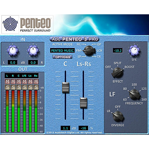 Penteo ADL Penteo 3 Pro Stereo to Surround UP Mixer
