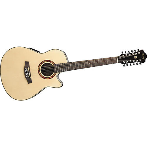 Ibanez AEF1812E 12-String Cutaway Acoustic-Electric Guitar with Onboard Tuner
