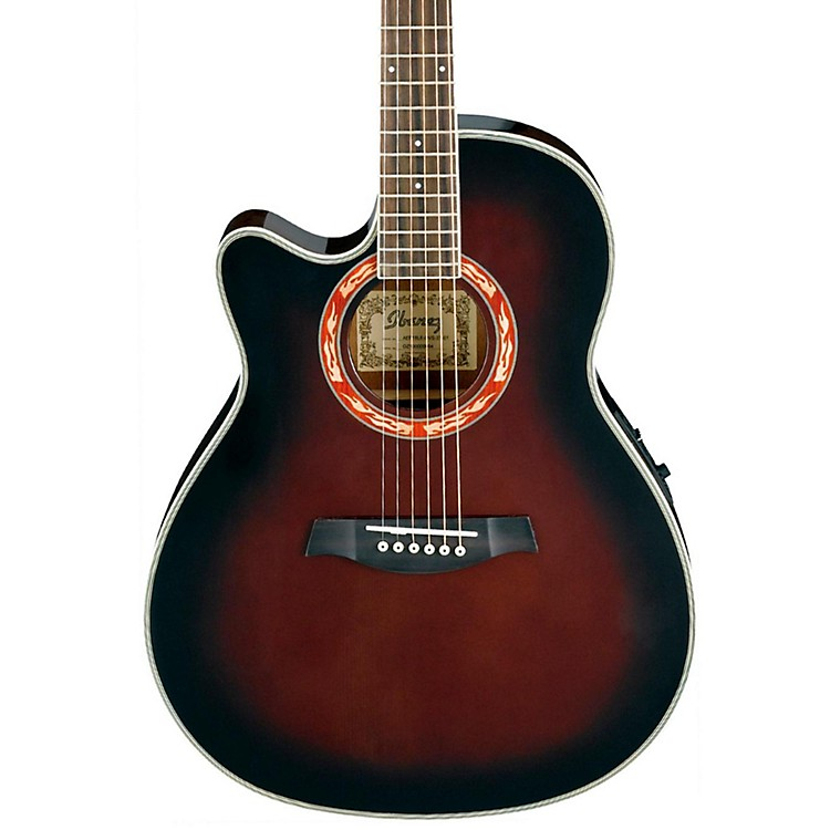 Ibanez AEF18LE Left-Handed Acoustic-Electric Guitar Dark Violin Sunburst