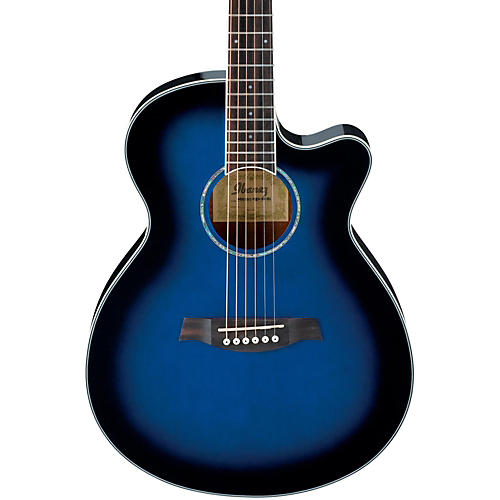 Ibanez AEG10II Cutaway Acoustic-Electric Guitar Transparent Blue Burst