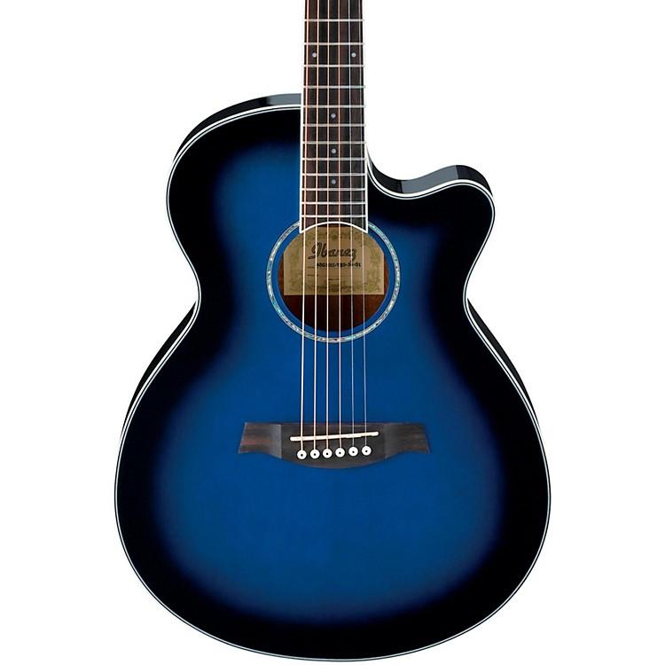 IbanezAEG10II Cutaway Acoustic-Electric GuitarTransparent Blue Burst