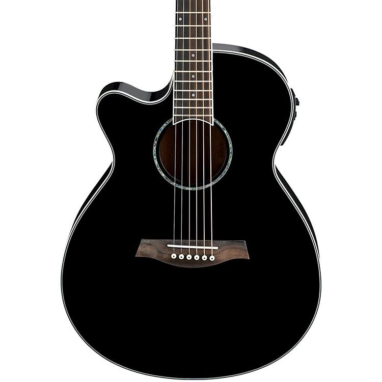 ibanez aeg10lii lefty cutaway acoustic electric guitar black musician 39 s friend. Black Bedroom Furniture Sets. Home Design Ideas
