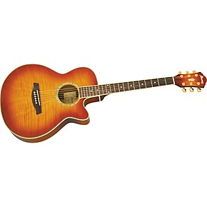 ibanez aeg20e flamed sycamore top acoustic electric guitar musician 39 s friend. Black Bedroom Furniture Sets. Home Design Ideas