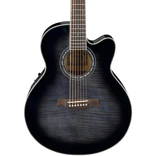 Ibanez AEL207E 7-String Acoustic-Electric Guitar Trans Black Sunburst