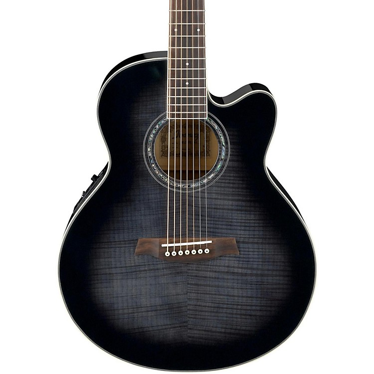 Ibanez AEL207E 7-String Acoustic-Electric Guitar Trans Black Sunburst