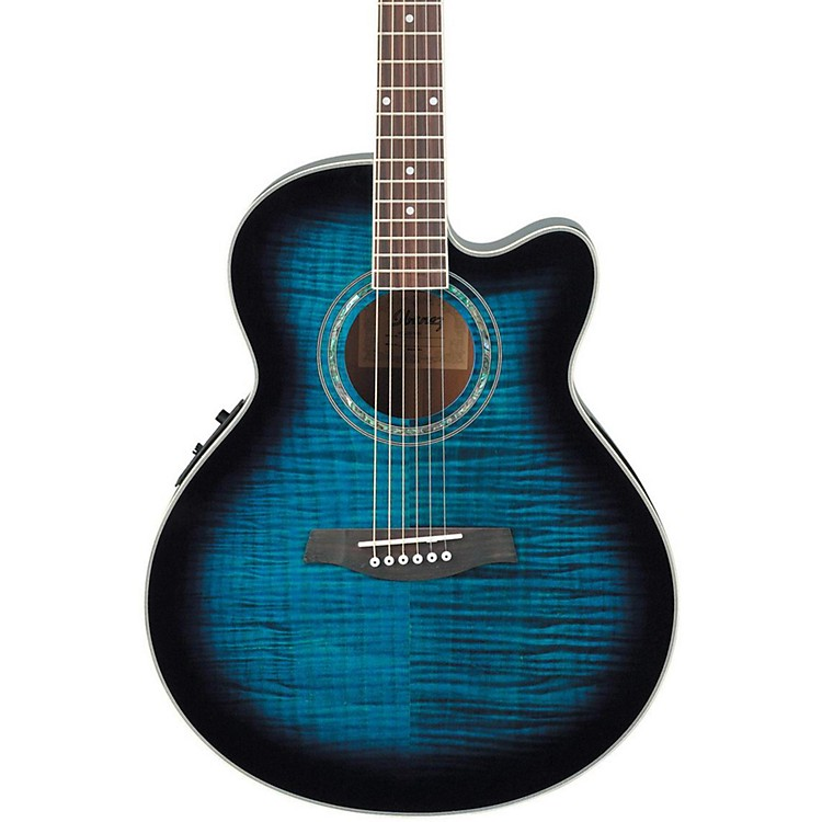 Ibanez AEL20ENT Acoustic-Electric Guitar Transparent Blue Sunburst