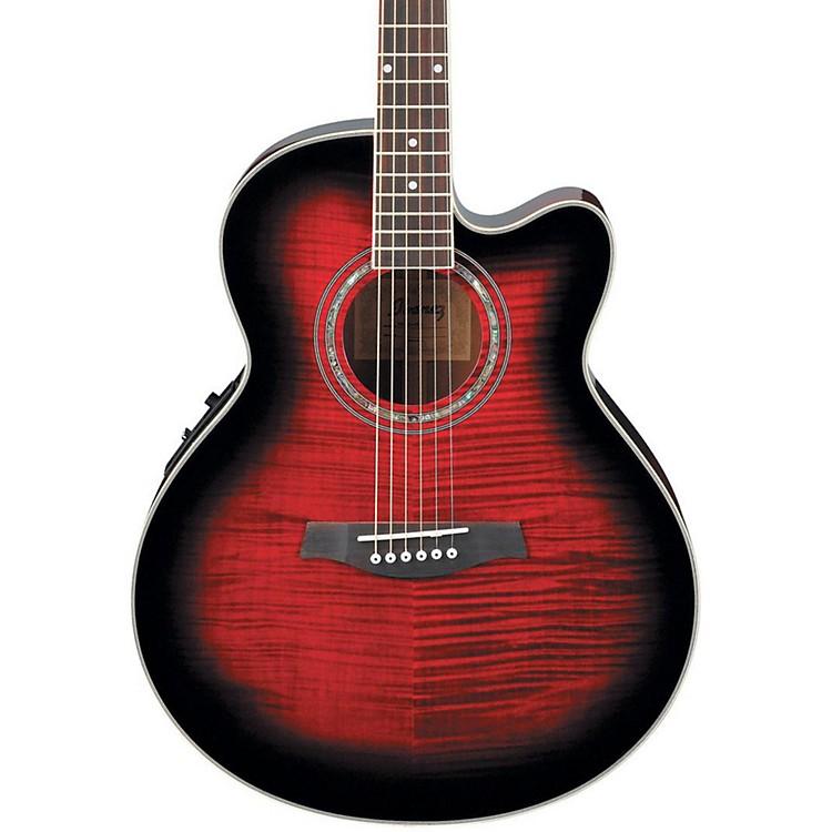 IbanezAEL20ENT Acoustic-Electric GuitarTransparent Red Sunburst