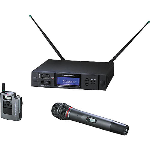 Audio-Technica AEW-4314 Artist Elite Handheld Cardioid Dynamic Mic and UniPak Wireless System-thumbnail