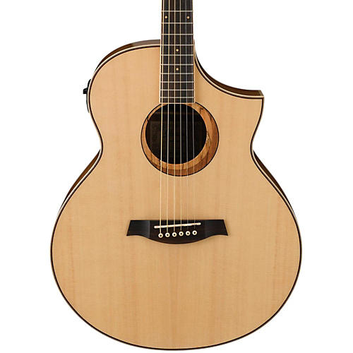 Ibanez AEW21VKNT Ovangkol Exotic Wood Acoustic-Electric Guitar Natural Gloss