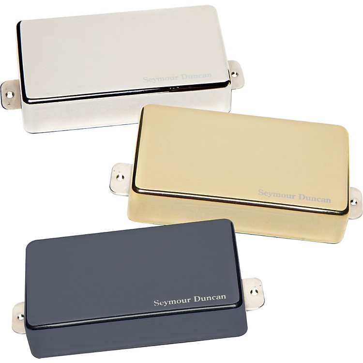 Seymour Duncan AHB-1 Blackouts Humbucker Set with Metal Covers BLACK CHROME