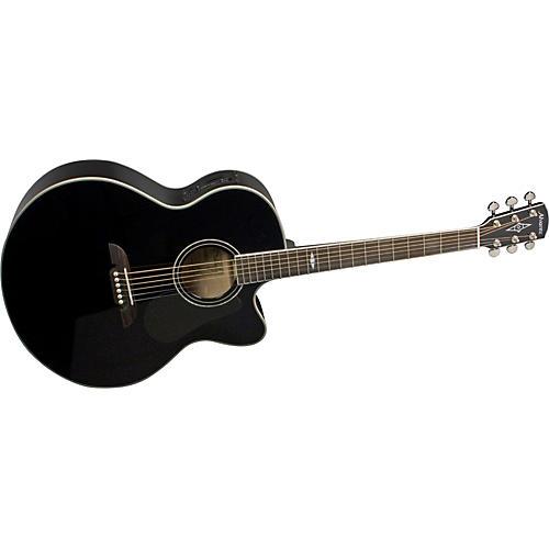Alvarez AJ414CBK Artist Cutaway Jumbo Acoustic-Electric Guitar with System 600 Mk II