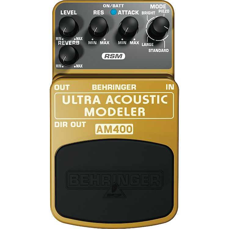 BehringerAM400 Ultra Acoustic Modeler Guitar Modeling Effects Pedal