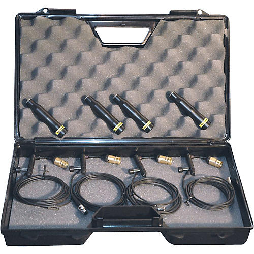 Applied Microphone Technology AMT A95-4C Miniature Condenser Drum Microphone Kit