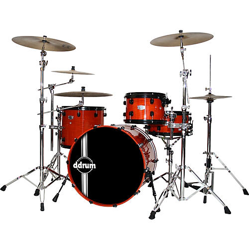 Ddrum AMX Ash/Maple Hybrid 4-Piece Shell Pack with 22
