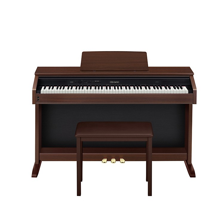 Casio AP250 Celviano Digital Cabinet Piano with Bench Brown