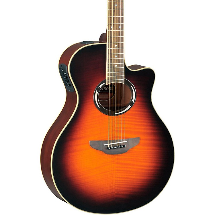 Yamaha APX500IIFM Flame Maple Thinline Cutaway Acoustic-Electric Guitar Old Violin Sunburst