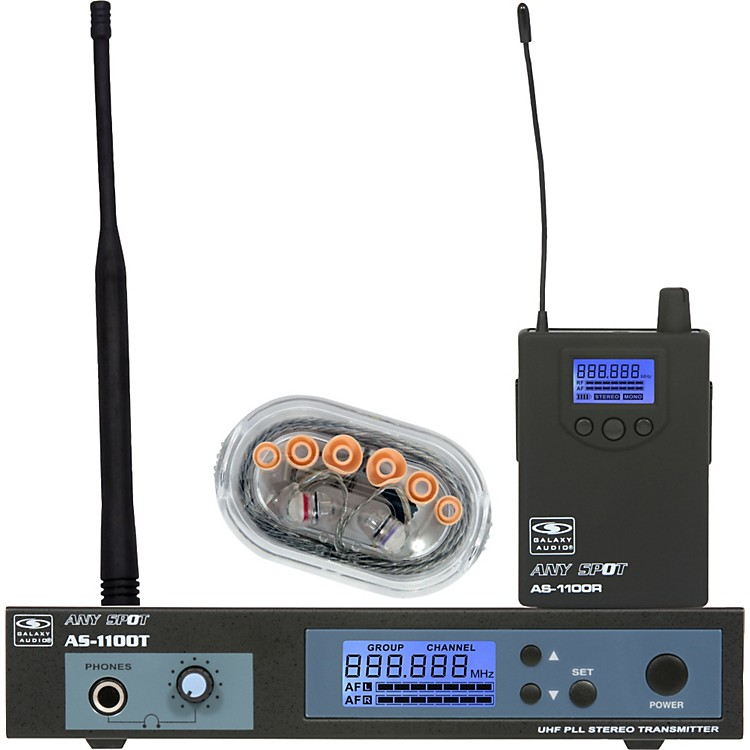 Galaxy Audio AS-1106 UHF Wireless Personal Monitor System W/EB6