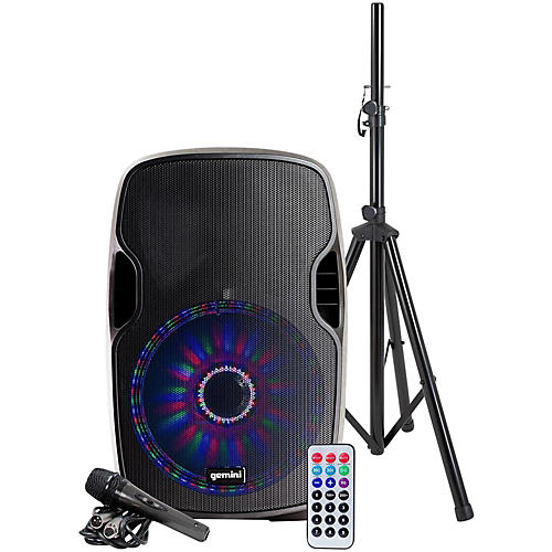 gemini as 12blu lt pk 12 in powered bluetooth speaker package musician 39 s friend. Black Bedroom Furniture Sets. Home Design Ideas