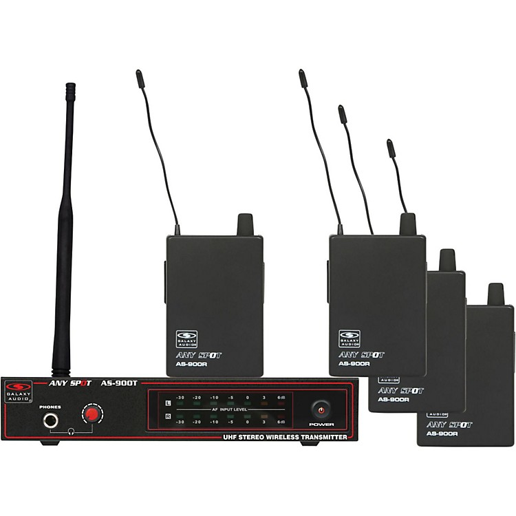 Galaxy AudioAS-900-4 Band Pack Wireless SystemFREQ. K3 634.8 MHz