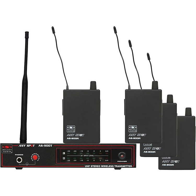 Galaxy Audio AS-900-4 Band Pack Wireless System K2