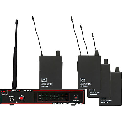Galaxy Audio AS-900-4 Band Pack Wireless System-thumbnail
