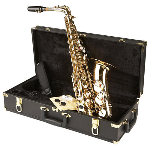 Antigua Winds AS4240 Power Bell Series Professional Eb Alto Saxophone Black Nickel Plated Gold plated keys