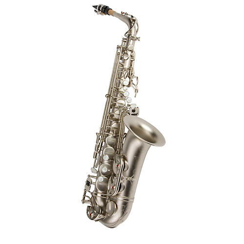 Antigua Winds AS4240 Power Bell Series Professional Eb Alto Saxophone Classic Nickel Finish
