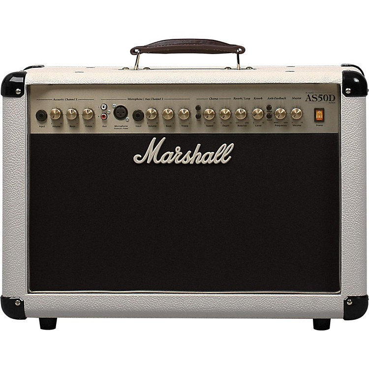 marshall as50dc limited edition 50w acoustic guitar combo amp cream musician 39 s friend. Black Bedroom Furniture Sets. Home Design Ideas