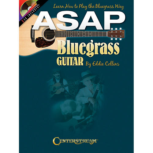 Centerstream Publishing ASAP Bluegrass Guitar Guitar Series Softcover with CD Written by Eddie Collins-thumbnail