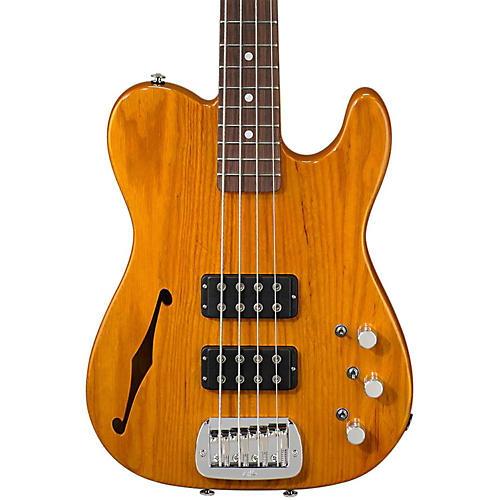 G&L ASAT Semi-Hollow Electric Bass Guitar Honeyburst