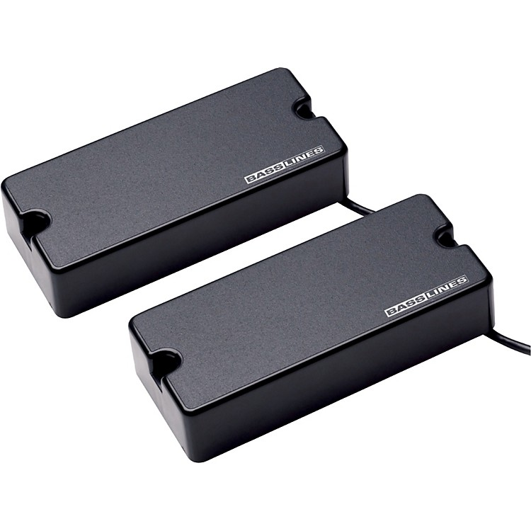 Basslines ASB-BO-4s Blackouts for Bass - Neck and Bridge Set Black