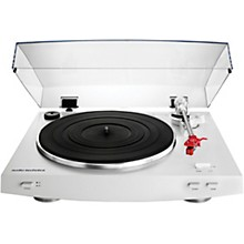 Audio-Technica AT-LP3WH Fully Automatic Belt-Drive Stereo Record Player Turntable White