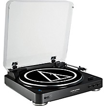 Open Box Audio-Technica AT-LP60BK-BT Fully Automatic Wireless Belt-Drive Stereo Record Player