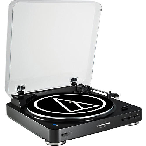 Audio-Technica AT-LP60BK-BT Fully Automatic Wireless Belt-Drive Stereo Record Player-thumbnail