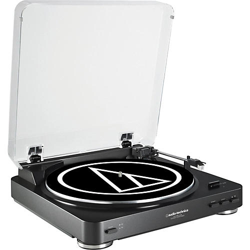 Audio-Technica AT-LP60BK-USB Fully Automatic Belt-Drive Stereo Record Player (USB & Analog)-thumbnail