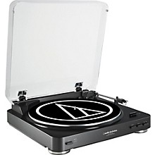 Open Box Audio-Technica AT-LP60BK-USB Fully Automatic Belt-Drive Stereo Record Player (USB & Analog)