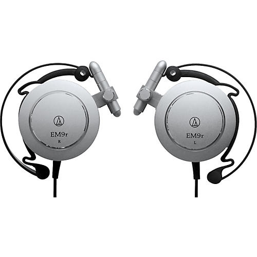 Audio-Technica ATH-EM9r Import Series Adjustable Aluminum Clip-on Headphones-thumbnail