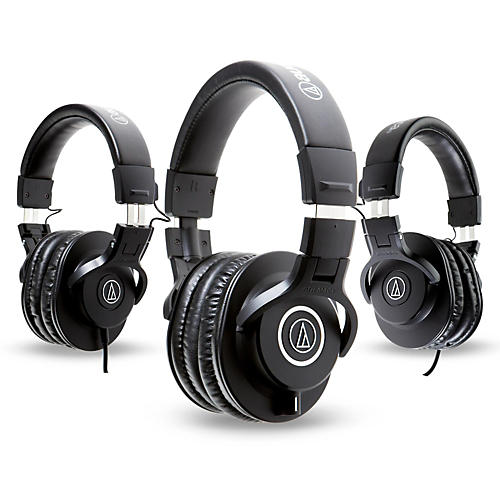 audio technica ath m40x headphones with 2 ath m30x headphones musician 39 s friend. Black Bedroom Furniture Sets. Home Design Ideas