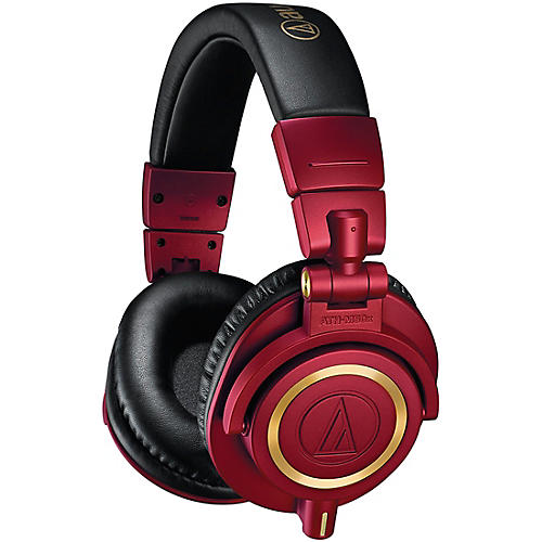 Audio Technica Ath M50x Red Gold Limited Edition Headphone
