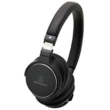 Open Box Audio-Technica ATH-SR5BTBK Bluetooth On Ear Headphones Hi-Res With Controls