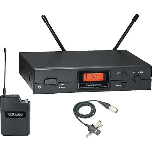 Audio-Technica ATW-2129 Bodypack Wireless System with AT829cW Lavalier Microphone