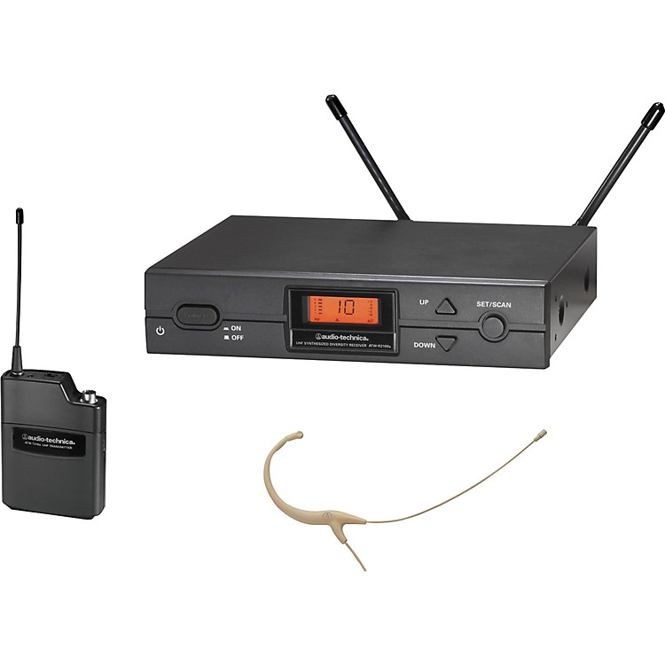 Audio-Technica ATW-2192a 2000 Series Headworn Omni Wireless System Channel D Black