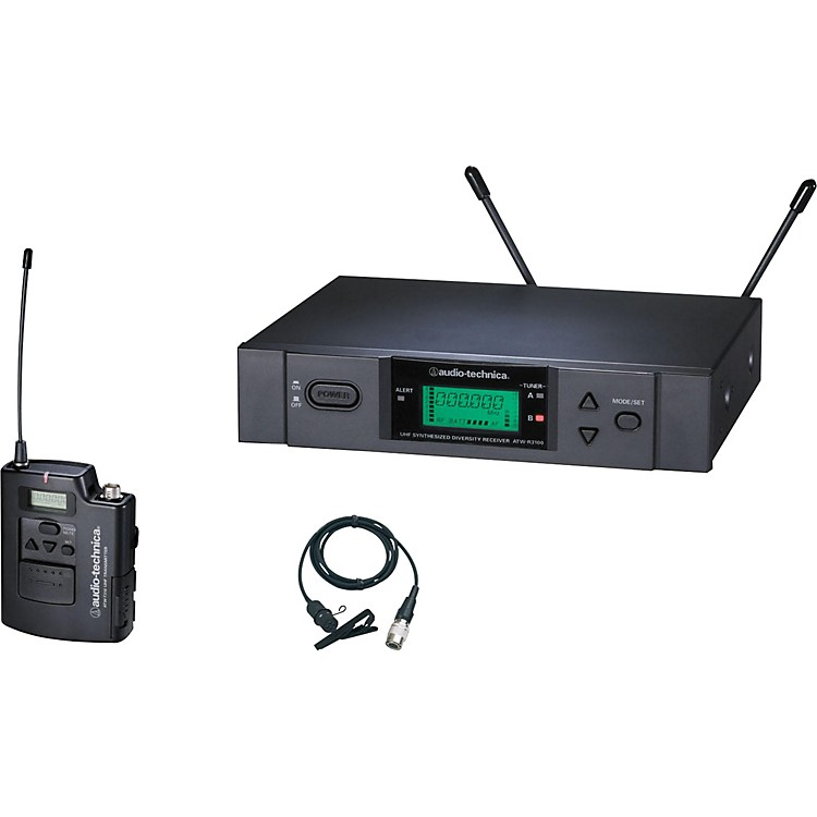 Audio-Technica ATW-3131b 3000 Series Lavalier Wireless System Channel D