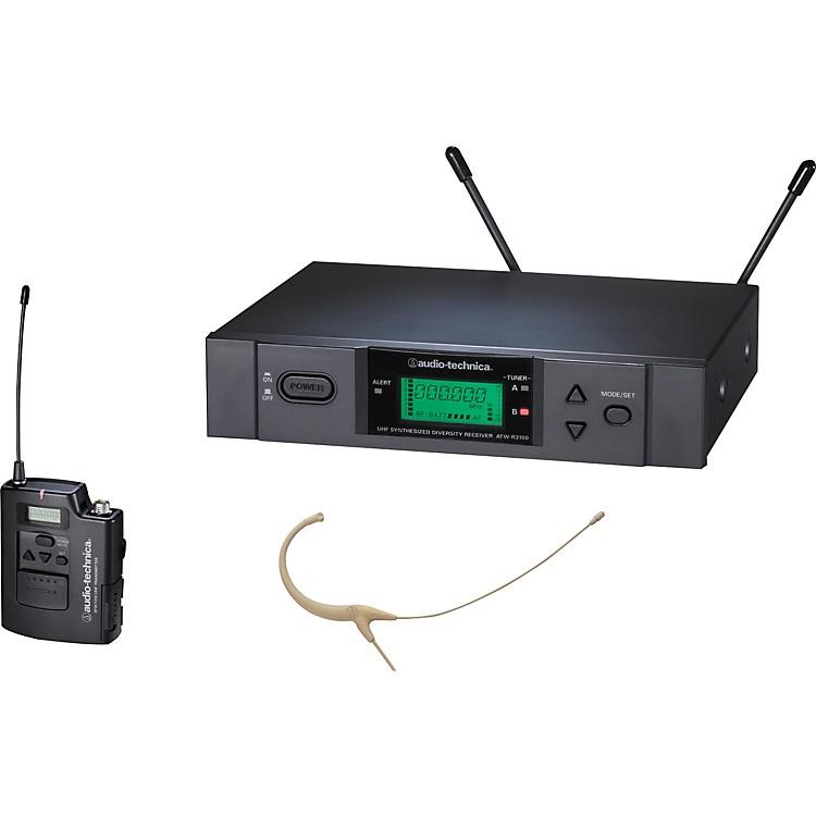 Audio-TechnicaATW-3192b 3000 Series Headworn Condenser Microphone Wireless SystemChannel LBeige