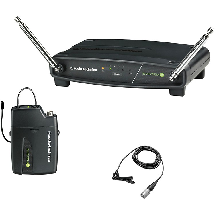 Audio-Technica ATW-901/L System 9 VHF Wireless Lavalier Microphone System 169.505 - 171.905 MHz